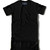 Premium Elongated Leather T shirt - Black/Black | Karactor Clothing