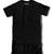 Premium Elongated Leather T shirt - Black/Black | Karactor Clothing