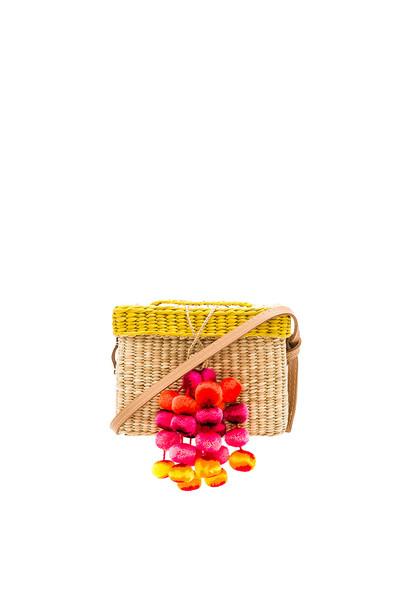pompom bag bag beige