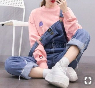 sweater pokémon pokemon pink pokeball ditto