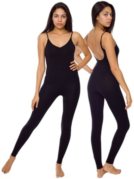 black jumpsuit white unitard american apparel outfits cute blavk grey