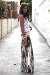 skirt,ashley madekwe,pattern,abstract,long skirt with bow,maxi skirt,street,streetstyle,actress,tumblr,tumblr skirt