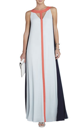 Wilah Color-Blocked Cutout Maxi Dress | BCBG