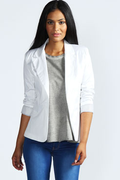 Jade Colour Block Blazer at boohoo.com