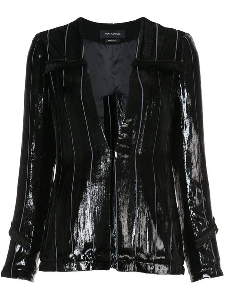 blazer metallic women black silk velvet jacket