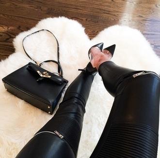 pants zip leather pants zipped pants