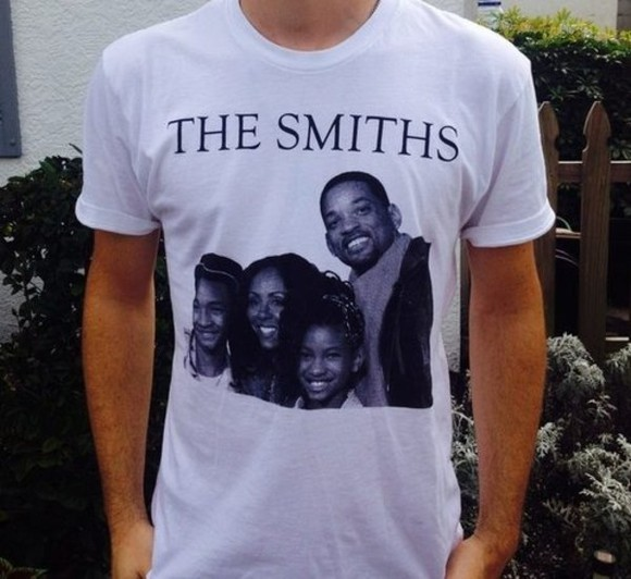 white tee shirt tumblr the smiths funny
