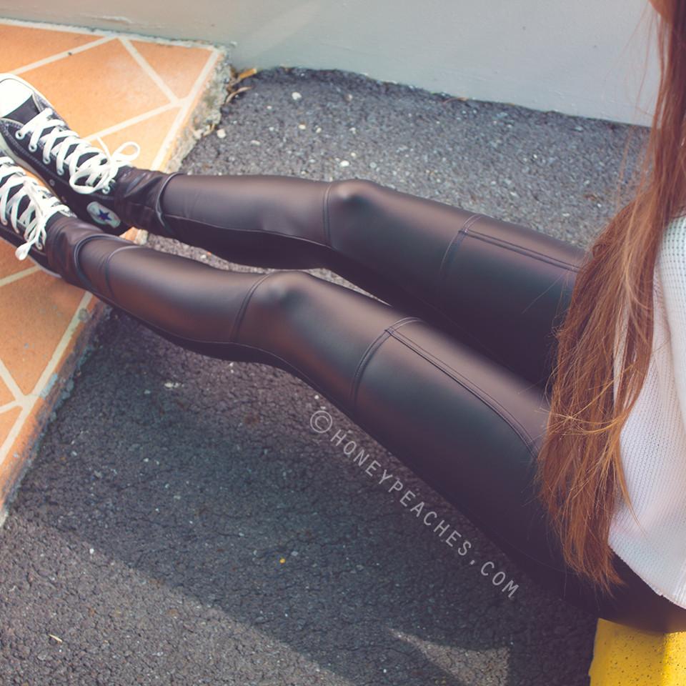 Slip & slide leggings – honey peaches