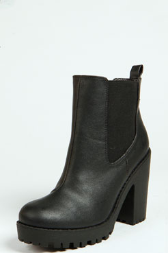 Izzy Elastic Insert Pull On Boot at boohoo.com