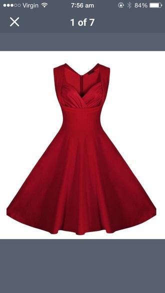dress red dark red vintage inspired vintage vintage dress red dress