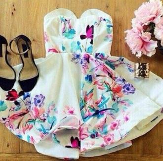 dress floral dress flowers fashion