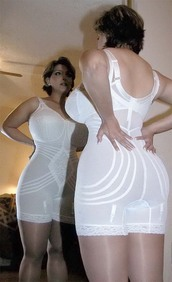underwear,white,girdle,tight,body shaper