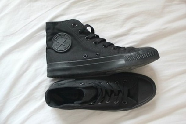 shoes, converse, black, laces, converse, black converse