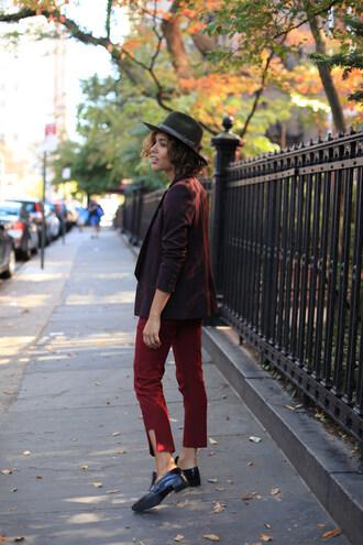 trop rouge blogger top pants jacket shoes bag