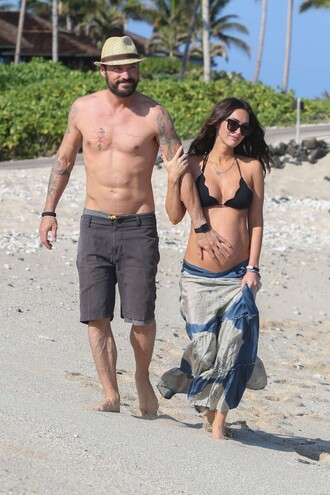 skirt maxi skirt summer outfits megan fox bikini bikini top