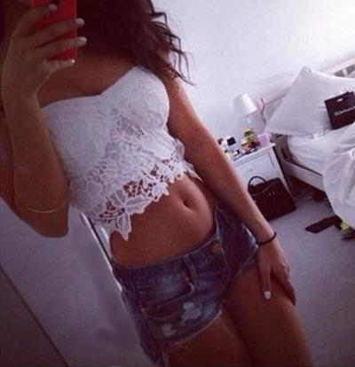 White lace crop top ·                 · online store powered by storenvy