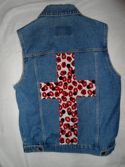 spikes stud jacket vest cross vest clothes vintage old school