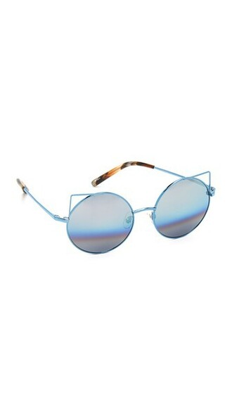 rainbow metal light sunglasses blue light blue