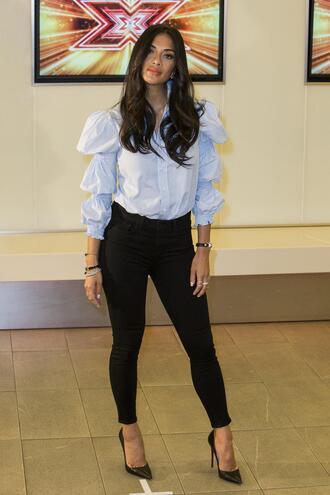 shoes nicole scherzinger blouse shirt