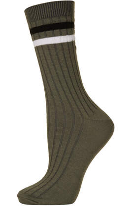 Two Stripe Shin Socks - Topshop