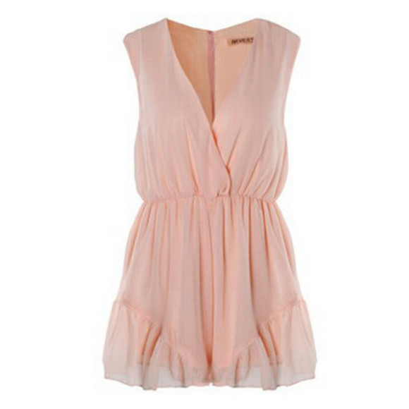 romper chiffon pink romper frilly blogger fashion blogger blogger playsuit