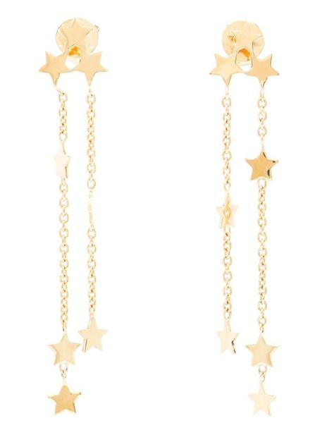 Luis Miguel Howard women earrings gold yellow grey metallic jewels