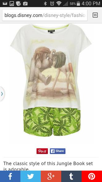disney pajamas jungle book love ya