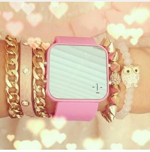 jewels watch pink pink watch