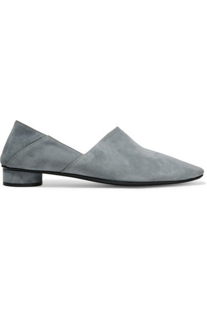 The Row - Noelle Suede Loafers - Blue