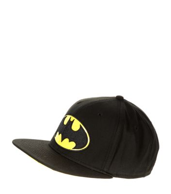 Black Batman Flat Peak Cap