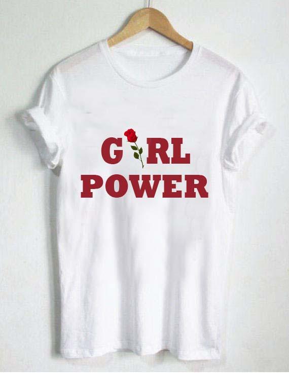 Girl power rose t shirt size s m l xl 2xl 3xl for Schoolboy q girl power shirt