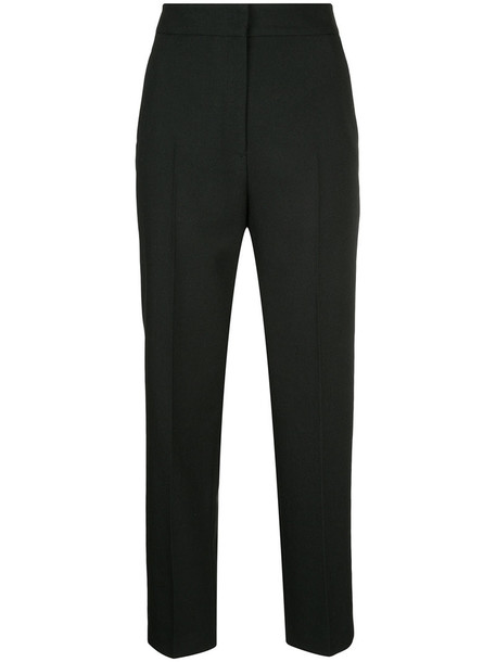 H Beauty & Youth cropped high women black wool pants