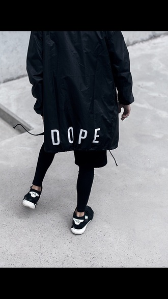 jacket black windbreaker dope health goth