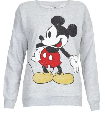 Grey Mickey Mouse Sweater