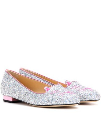 glitter slippers silver shoes