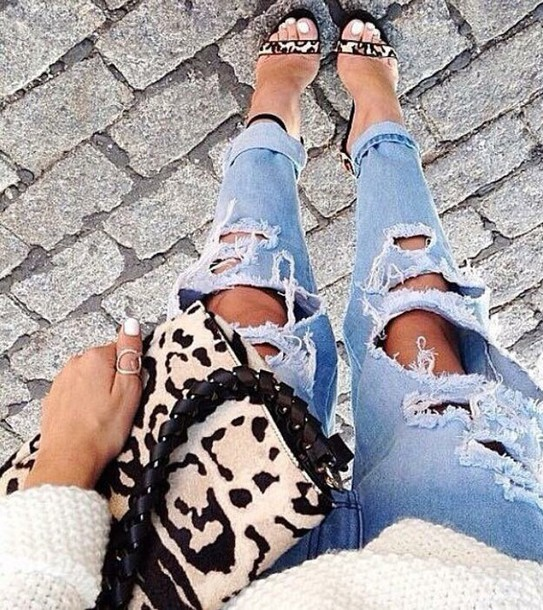 jeans jeans ripped bag shorts