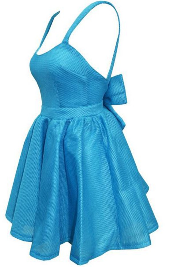 baby blue back bow cocktail dress casual dress dream closet couture chic dress