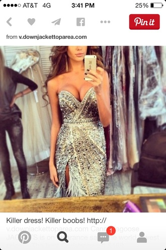 dress clothes sparkle sparkly dress prom beautiful perfect silver gown need want this so bad