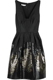 dress,designer,sparkle,glitter,little black dress,glitter dress,prom dress,classy,preppy,fashion,black,gold sequins