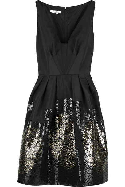 Dress: designer, sparkle, glitter, little black dress, little ...