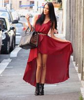asymmetrical,red dress,dress,icifashion,icifashion.com,ici fashion,hi low dresses,hi low hem,party dress