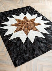 home accessory,cowhide rugs,hide rugs,patchwork rugs,mosaic rugs,luxury rugs,leather rugs