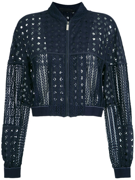 Giuliana Romanno jacket women lace cotton