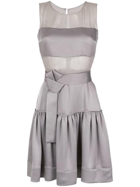 Gloria Coelho dress short dress short sheer women silk grey