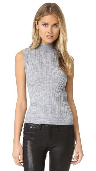 pullover sleeveless grey heather grey sweater