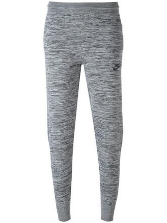 pants track pants women spandex cotton knit grey