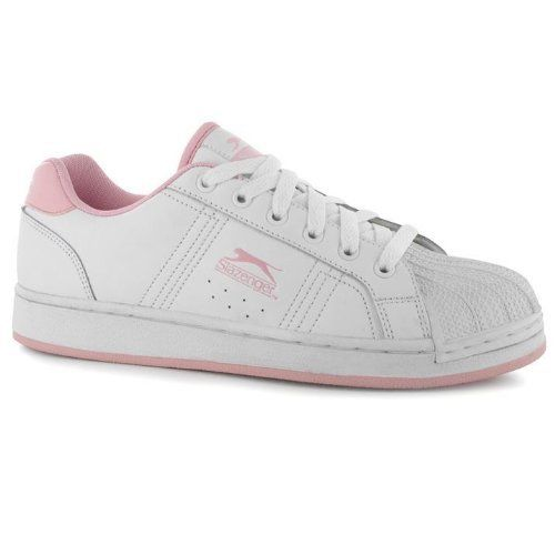 Slazenger Idol Womens Girls Unboxed Lace Up White Pink