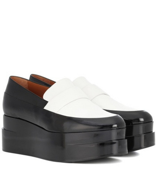 Clergerie Lynn platform leather loafers in black