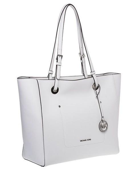 silver white bag