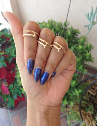 jewels gold ring knuckle ring gold midi ring gold nail midi ring